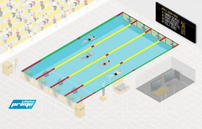 Olimpik Tipi Profesyonel Yüzme Havuzu Skorbord Ürünleri