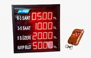 Otopark Fiyat Gösterge Led Pano Fiyatları